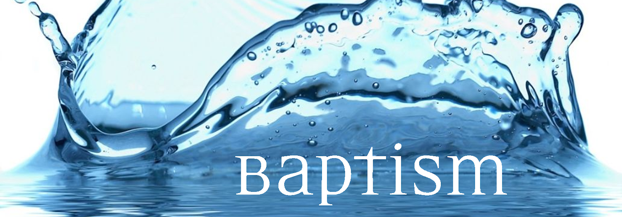 Baptism Service: Updated