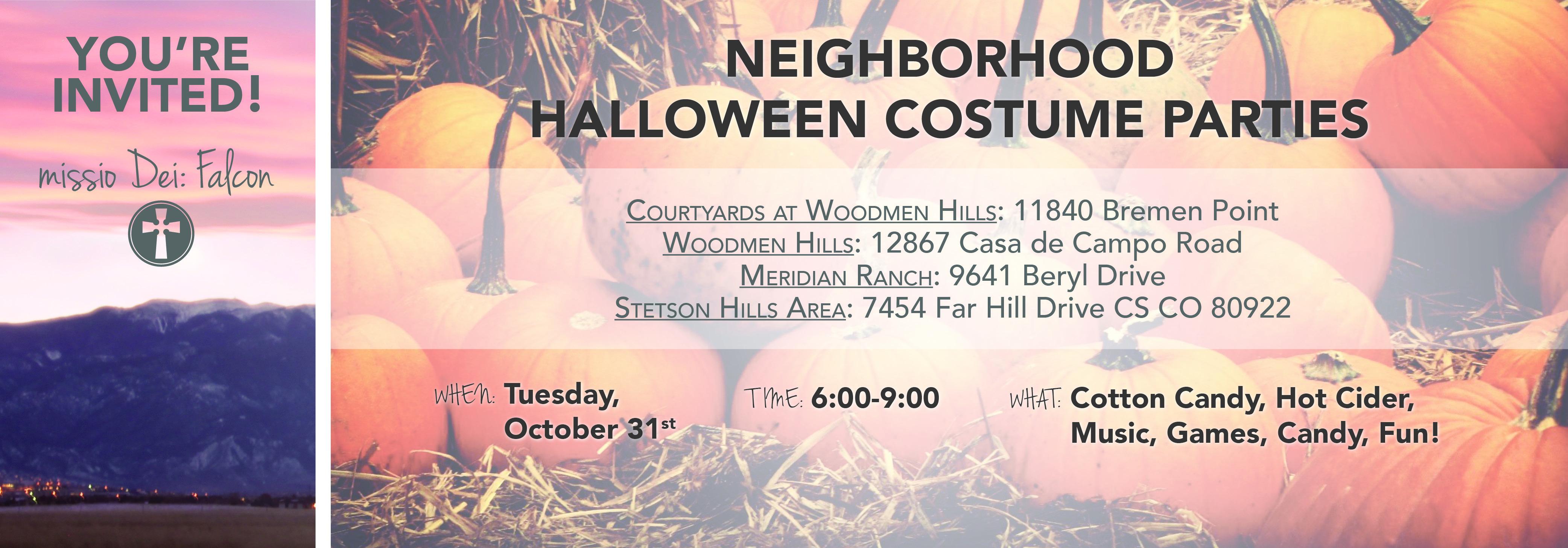 Neighborhood Halloween Parties